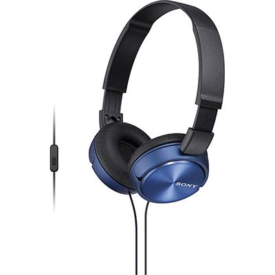 Tai nghe Sony chụp tai có mic MDRZX310APLCE-xanh