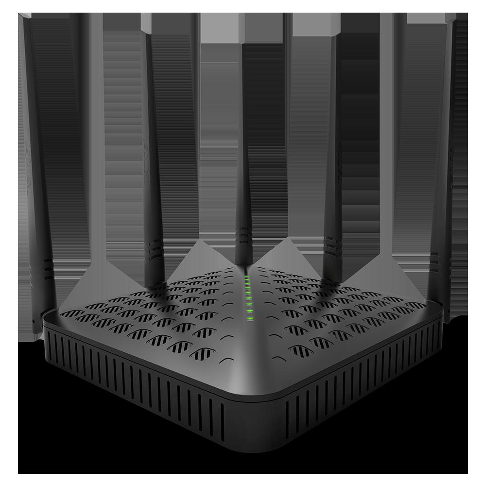 Bộ định tuyến không dây Tenda FH1202- 5 ăngten- 4p- AC 1200Mbps
