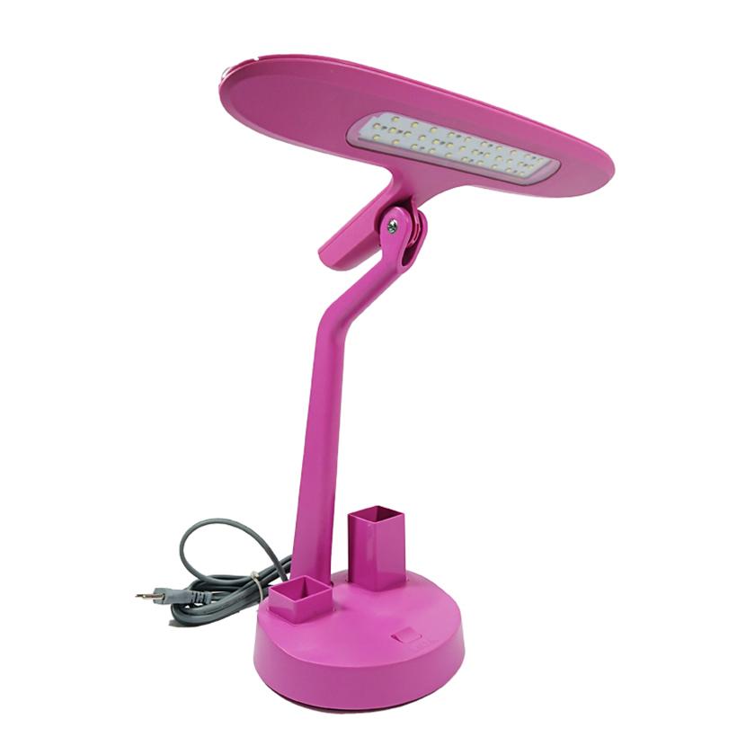 Đèn bàn Led 7W ngang có hộp bút, ghim hồng LiDGNLED7/PK