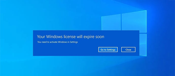 Lỗi your Windows license will expire soon Win 10 do đâu?