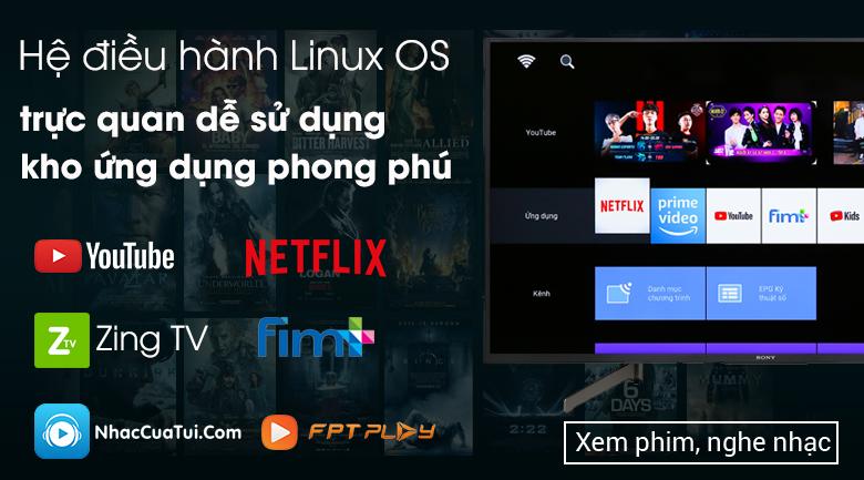 Tivi Sony 55X7000G hệ điều hành linux