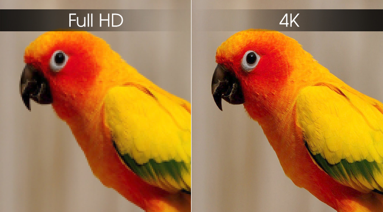 Tivi Sony 55X7000G độ phân giải 4k