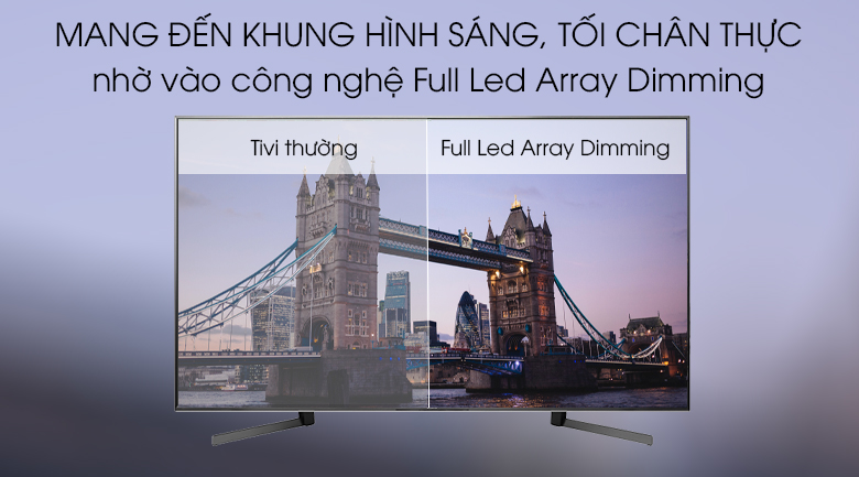 Tivi Sony 85X9500G với Công nghệ Full Led Array Dimming (​​​​​​​Hay Full-array local dimming)