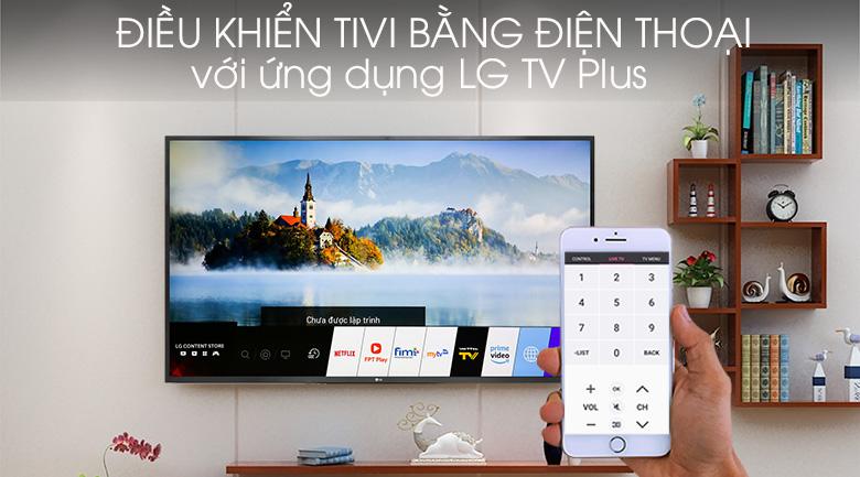 tivi LG 49UM7300PTA điều khiển bằng điện thoại