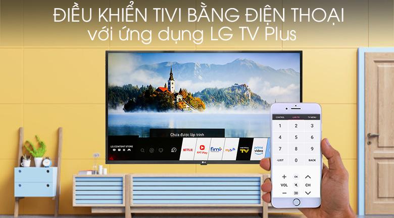 Tivi LG 43UM7300PTA điều khiển tivi bằng điện thoại