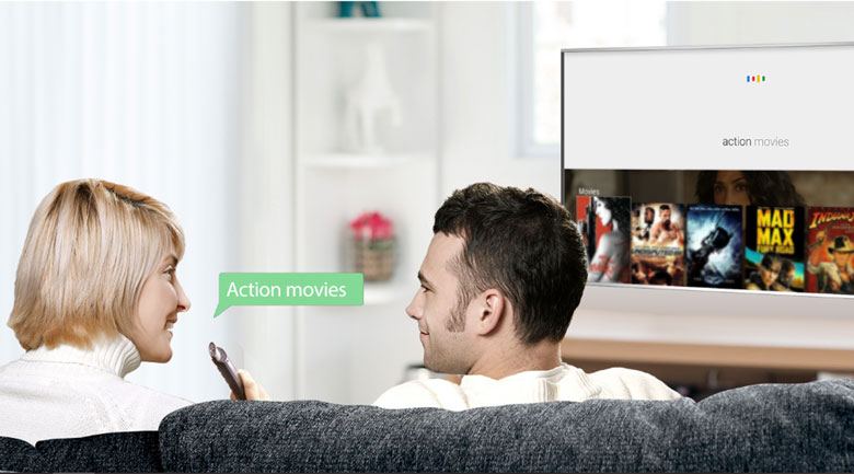 Remote thông minh - Android Tivi TCL 4K 65 inch L65C8