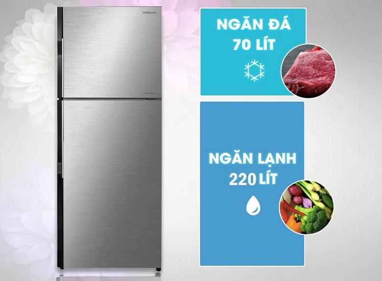thiết kế-tủ lạnh Hitachi H350PGV7(BSL)