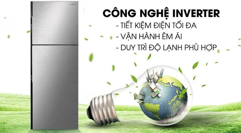 công nghệ inverter-tủ lạnh Hitachi H350PGV7(BSL)