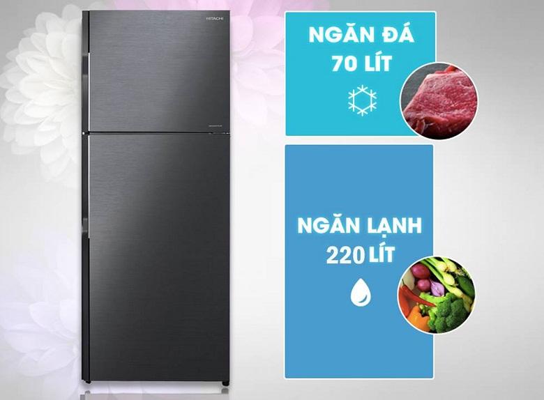 thiết kế-Tủ lạnh H350PGV7(BBK)