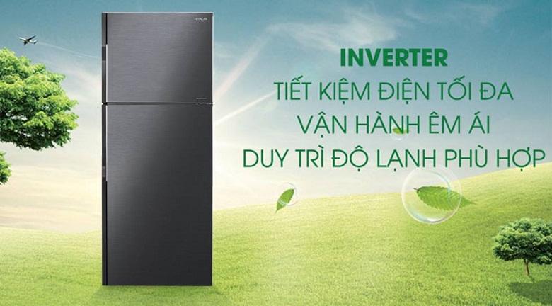 công nghệ inverter-Tủ lạnh H350PGV7(BBK)