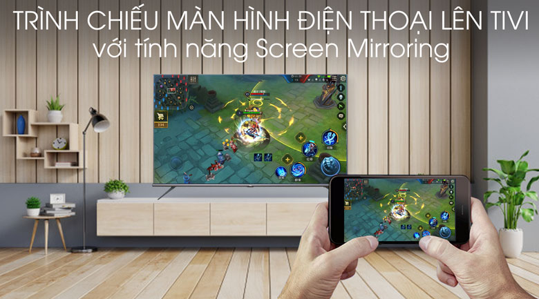 Screen Mirroring - Android Tivi TCL 4K 75 inch L75A8