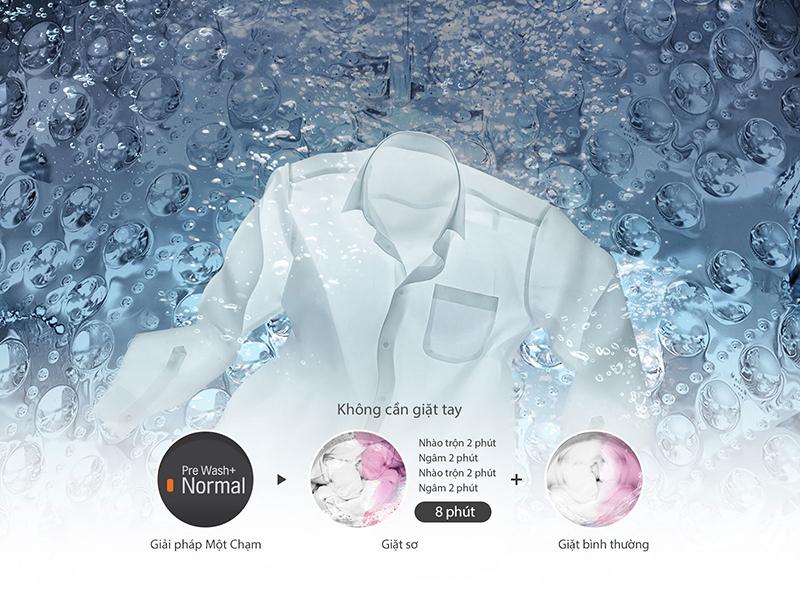 Bộ lọc xơ vải thông minh - Máy giặt lồng đứng LG inverter 8.5 kg T2185VS2W