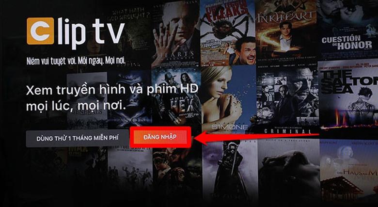 đăng nhập cliptv - tivi sony