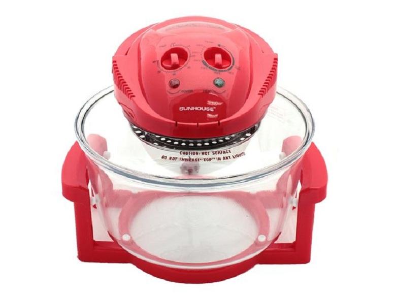 thiết kế - Nồi nướng thủy tinh Sunhouse SH416 (đỏ)