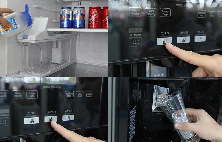 Hitachi  tính năng làm đá tự động trên tủ lạnh
