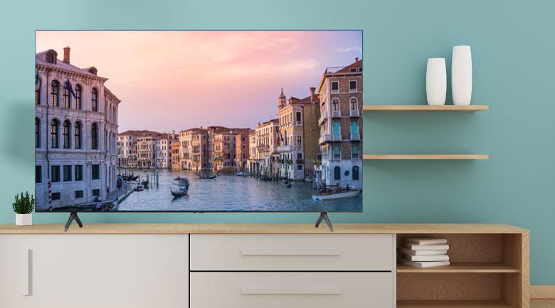 Thiết kế chân đế vững chắc - Smart Tivi Samsung 4K 43 inch UA43TU7000KXXV