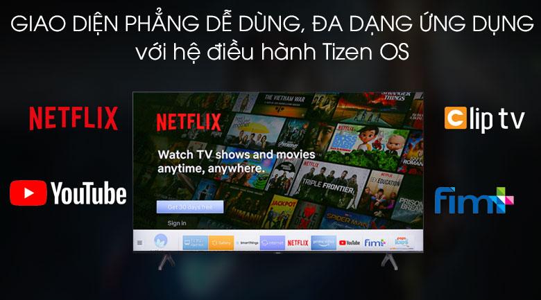 Hệ điều hành Tizen OS trực quan - Smart Tivi Samsung 4K 43 inch UA43TU7000KXXV