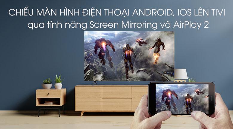 Chiếu màn hình điện thoại thông minh lên tivi - Smart Tivi Samsung 4K 50 inch UA50TU7000KXXV