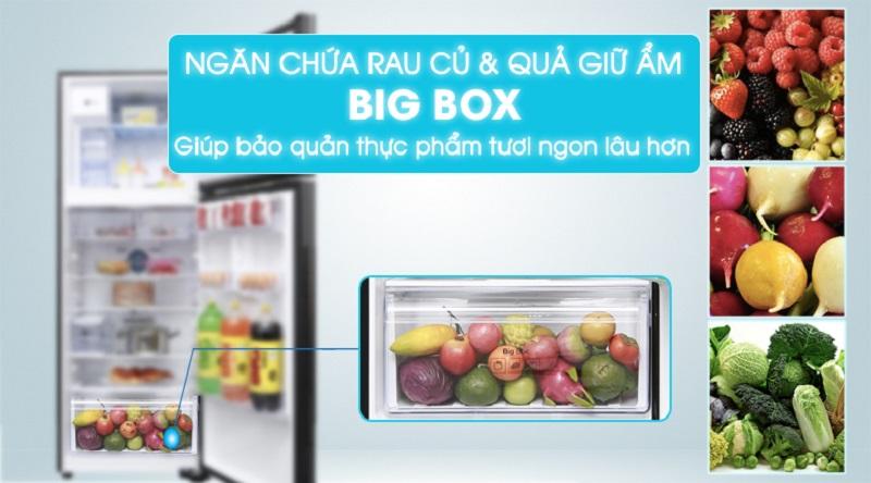 Ngăn rau quả - Tủ Lạnh Samsung Inverter 360 lít RT35K5982DX/SV