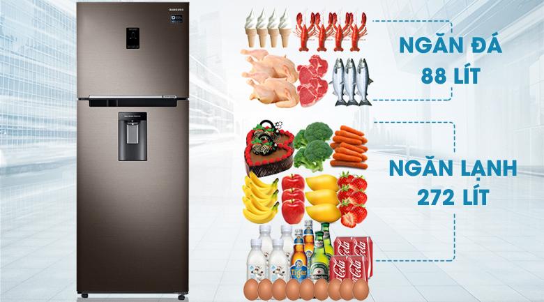 Dung tích Tủ Lạnh Samsung Inverter 360 lít RT35K5982DX/SV