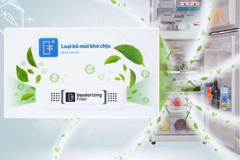 bộ lọc than hoạt tính - Tủ lạnh Samsung Inverter 360 lít RT35K5982S8/SV Bạc
