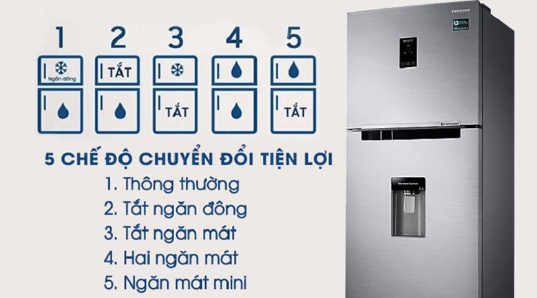 5 chế độ chuyển đổi - Tủ lạnh Samsung Inverter 360 lít RT35K5982S8/SV Bạc