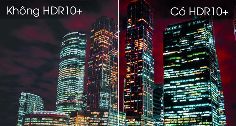 Công nghệ HDR10+ điều chỉnh độ sáng khá tốt của video và hình ảnh khi nhìn vào  UA43TU8500KXXV Samsung 43 inch TV