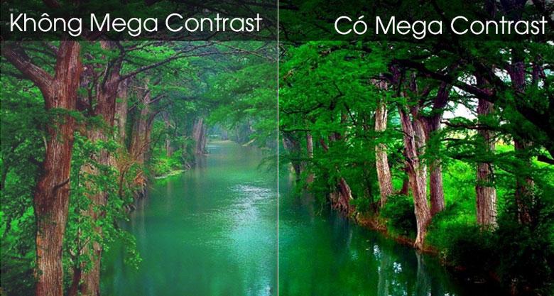 Công nghệ Mega Contrast  làm tăng gam màu tương phản nét hơn- UA43TU8500 Smart Tivi Samsung 4K