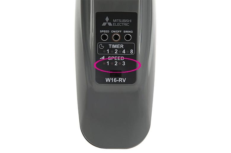 ba tốc độ gió - Quạt treo tường Mitsubishi W16-RV CY-GY