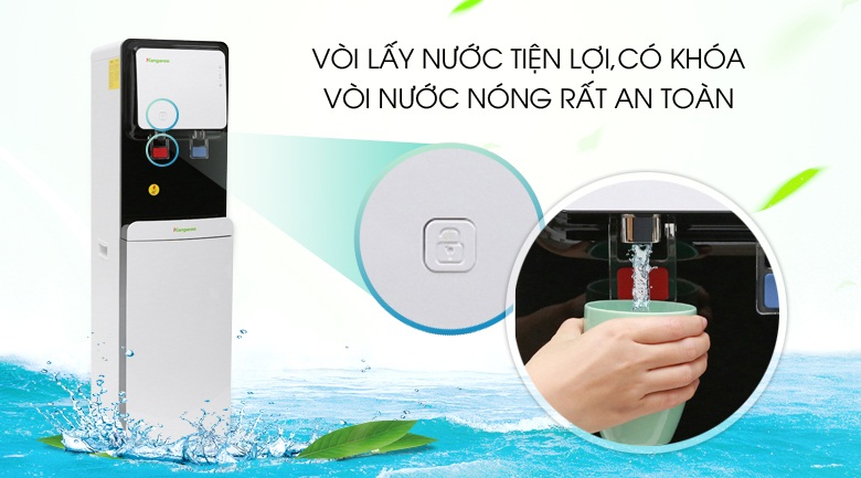 thiết kế vòi nóng lạnh-Máy lọc nước nóng lạnh Kangaroo KG61A3