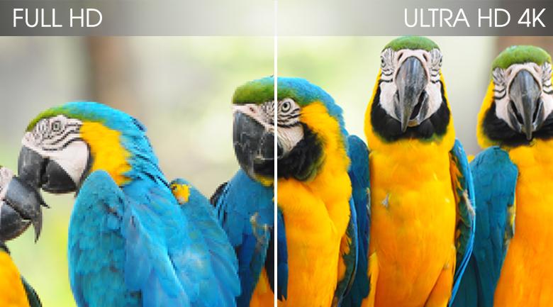 Hình ảnh tại Tivi Samsung 4K 43 inch QA43Q65T có độ phân giải UHD 4K