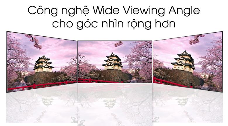 Góc nhìn được ngày càng mở rộng ra xa nhờ công nghệ Wide Viewing Angle - Smart Tivi QLED Samsung QA43Q65T 43 inch