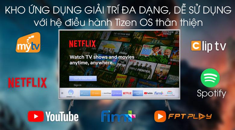 Hệ điều hành Tizen OS luôn được nhiều người yêu thích bởi dễ dàng sử dụng - Tivi Samsung QA43Q65TAKXXV