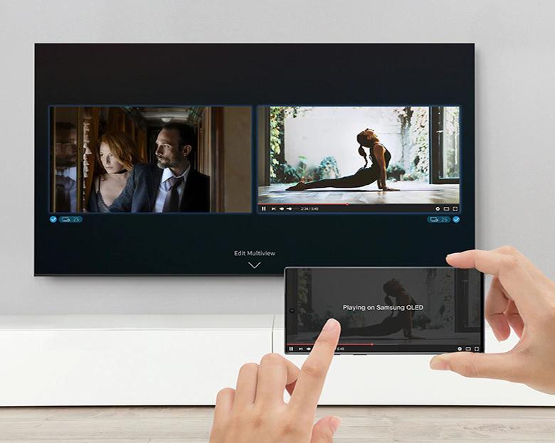 Chia đôi màn hình xem nhiều nội dung cùng 1 lúc - 43 inch 43Q65T Smart Tivi QLED Samsung