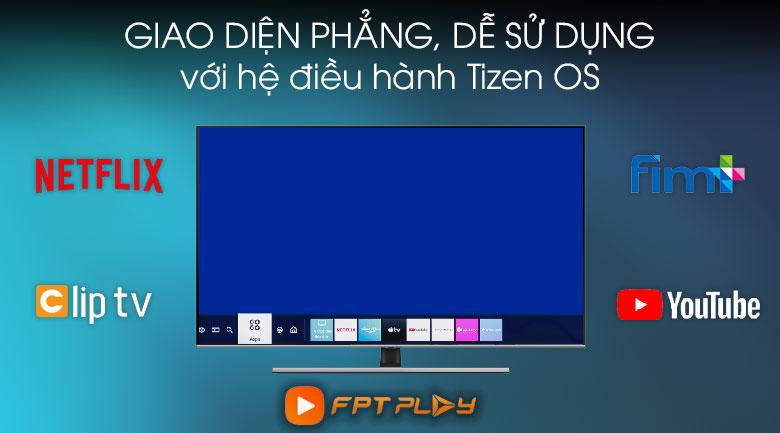 Hệ điều hành Tizen OS - Smart Tivi QLED Samsung 4K 65 inch QA65Q70TAKXXV