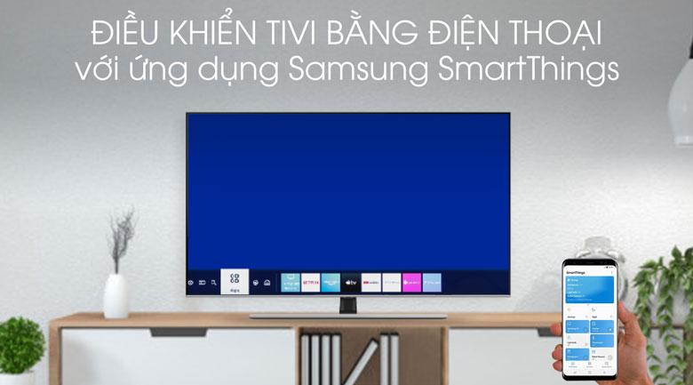 Điều khiển tivi qua SmartThings - Smart Tivi QLED Samsung 4K 65 inch QA65Q70TAKXXV