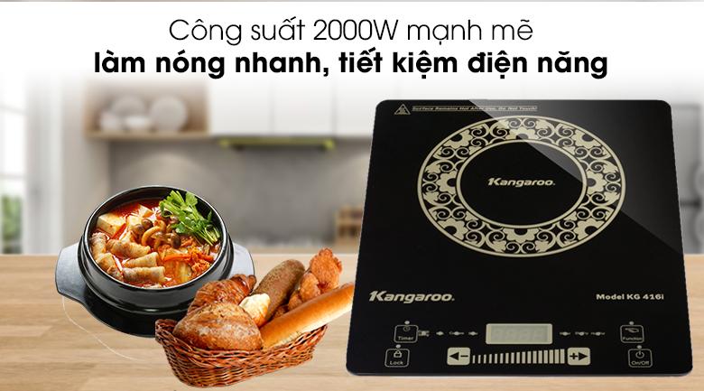 công suất 2000W - Bếp từ đơn siêu mỏng Kangaroo KG416i