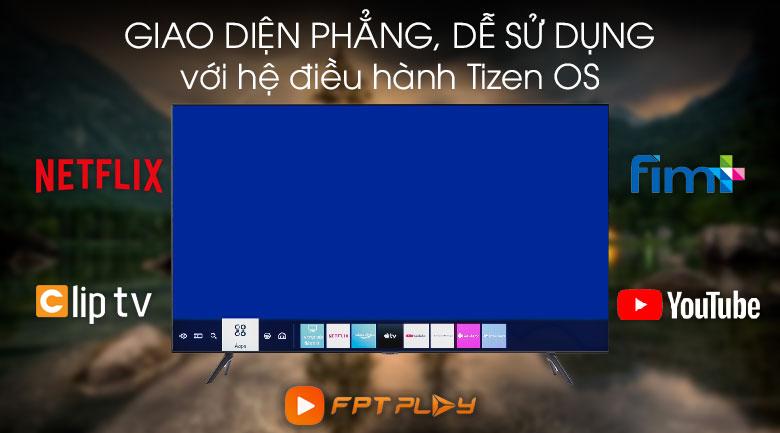 Hệ điều hành Tizen OS - Smart Tivi Samsung 4K 65 inch UA65TU8100KXXV