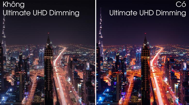 Công nghệ UHD Dimming - Samsung QA55Q80TAKXXV độ tương phản chiếu hình ảnh