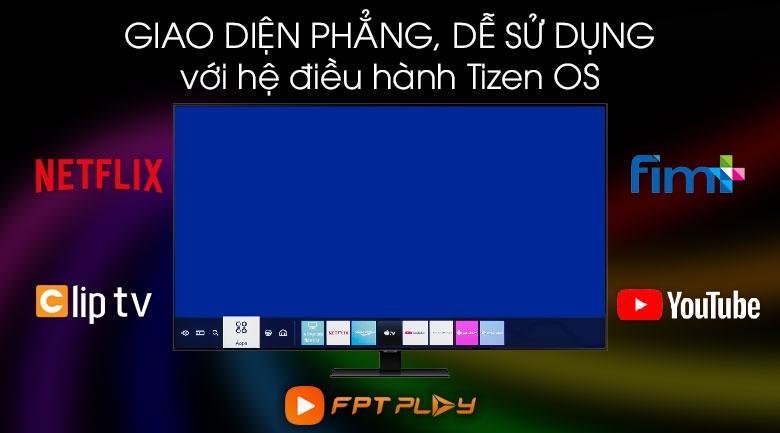 Hệ điều hành Tizen OS được Smart Tivi QLED Samsung QA55Q80TAKXXV sở hữu