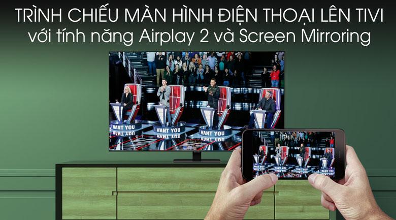 Screen Mirroring chiếu nội dung muốn xem lên  Samsung 4K 55 inch QA55Q80TAKXXV