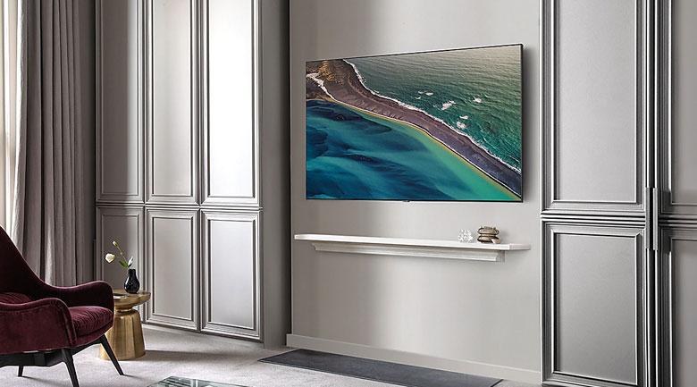 Thiết kế sang trọng, thanh lịch, tràn viền - Smart Tivi QLED Samsung 4K 85 inch QA85Q80T