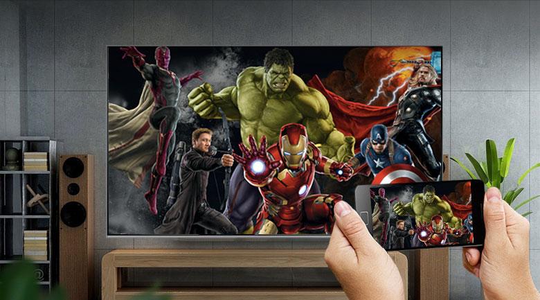 Chiếu màn hình lên điện thoại - Smart Tivi QLED Samsung 8K 65 inch QA65Q800TAKXXV