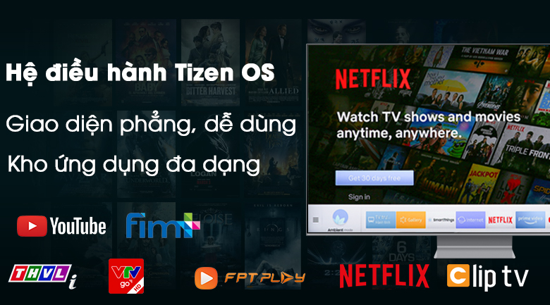 Hệ điều hành Tizen OS - Smart Tivi QLED Samsung 8K 65 inch QA65Q800TAKXXV