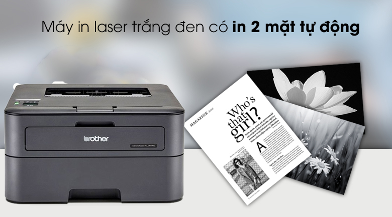 in 2 mặt tự động-máy in laser Brother HL-L2321D