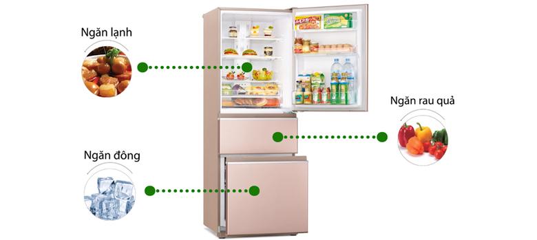Tủ lạnh Mitsubishi Inverter 358 lít MR-CX46EJ-PS-V