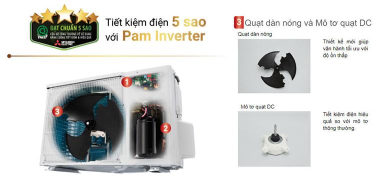 Công nghệ Pam Inverter - Điều hòa 2 chiều Mitsubishi Inverter 18000BTU MSZ-HL50VA