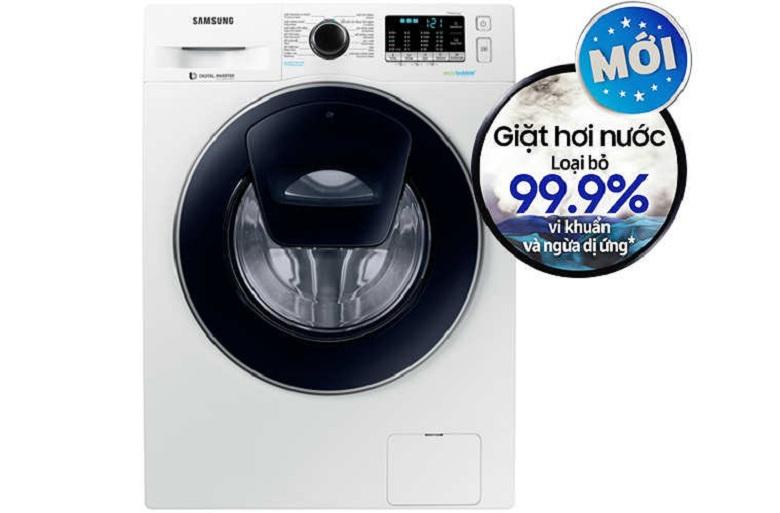 Giặt hơi nước-Máy giặt Samsung Inverter 9 kg WW90K54E0UW/SV lồng ngang