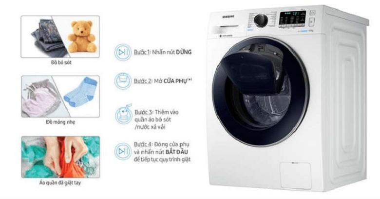 Add Door-Máy giặt Samsung Inverter 9 kg WW90K54E0UW/SV lồng ngang