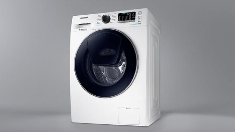 giặt nhanh 15 phút-Máy giặt Samsung Inverter 9 kg WW90K54E0UW/SV lồng ngang